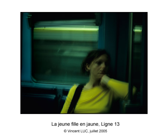 Galerie Photo : Aller et revenir : Metro de Paris, ligne 13, Photo couleur © Vincent LUC