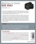 Livre technique photo numérique Maitriser le Canon EOS 350D 350 D, Vincent Luc Editions VM Eyrolles