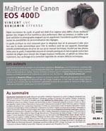 livre Maitriser Canon EOS 400D Vincent LUC Benjamin EFFOSSE Eyrolles