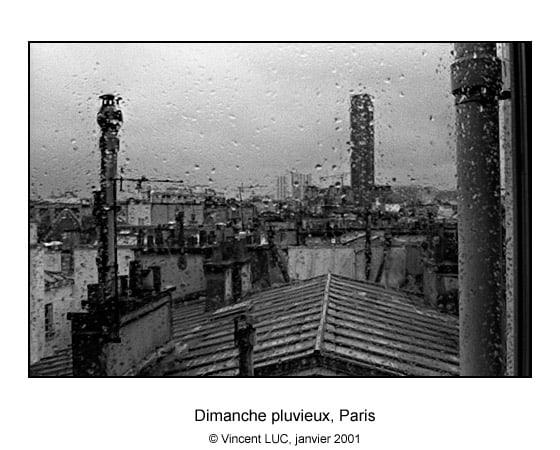 Photo dimanche pluvieux, Paris, Montparnasse, © Vincent LUC