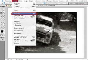 Tutorial Photoshop Retouche Photo : Marge blanche et Filet noir