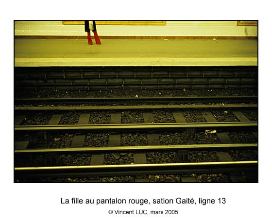 Galerie Photo Aller et revenir : Metro de Paris, Gaité, ligne 13 Photo couleur© Vincent LUC